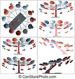 Colorful Carousel Vector 39eps - Colorful Carousel Vector