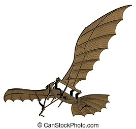 Leonardo Da Vinci Antique Fly - Flying Machine Based On The...