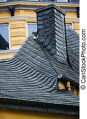 Ornate roofing tiles