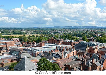 Chester - View of Chester city skyline taken from the roof...