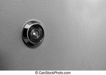 Peephole on a door - Peephole on a home , apartment, office,...