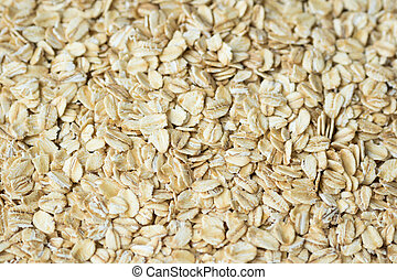 Rolled Oats - Close up of rolled oats