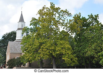 Church in Williamsburg, Virginia - Bruton Parish Episcopal...