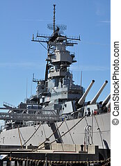 USS Wisconsin Battleship BB-64 in Norfolk, Virginia