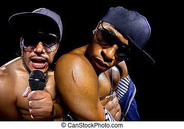 Rappers Concert - Rappers having a hip hop music concert...