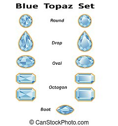 Blue Topaz Set With Text