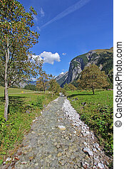 Autumn at Karwendel Mountains - Mountain Stream running...
