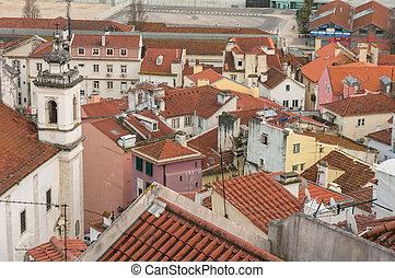 View from Mirador de Santa Lucia, Lisbon, Portugal