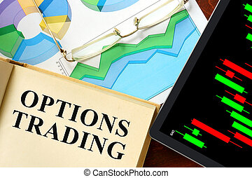 options trading - Words options trading written on a book....