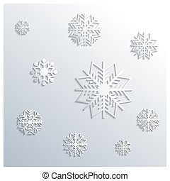 Background of snowflakes, vector