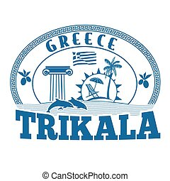 Trikala, Greece stamp or label