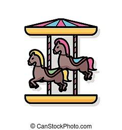 Merry-go-round doodle