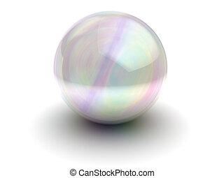 soap bubble - 3d illustration of soap bubble or glass sphere...
