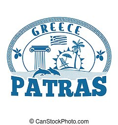 Patras, Greece stamp or label