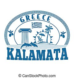 Kalamata, Greece stamp or label