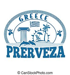 Preveza, Greece stamp or label