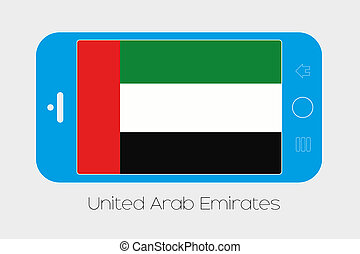 Mobile Phone with the Flag of United Arab Emirates