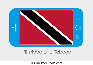 Mobile Phone with the Flag of Trinidad and Tobago - Mobile...