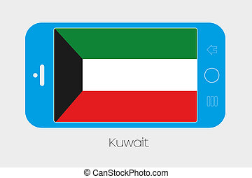 Mobile Phone with the Flag of Kuwait - Mobile Phone...