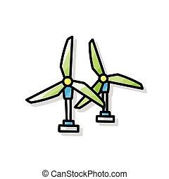 wind power plant doodle