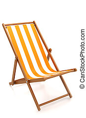 chaise longue - chaise lounge for relaxing on the beach...