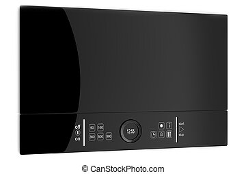 microwave - Black glass Microwave with touch screen,...