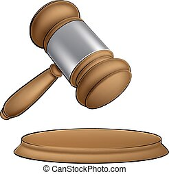 Wooden judge gavel - A wooden judge court or auction sale...