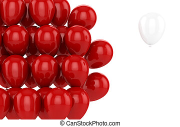 red balloons - Red balloons with one white on a white...