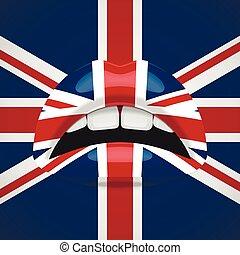 Beauty Lips with United Kingdom Flag Makeup