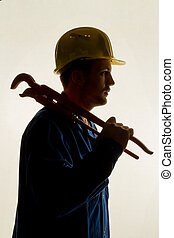 craftsman with tools - workers in a commercial enterprise...