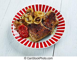Garam Masala Pork Chops - Central Asian dish