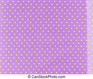 Polka dot - Yellow dots over purple Polka dot fabric...
