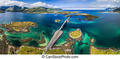 Lofoten panorama bridges
