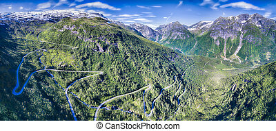 Gaularfjellet - Mountain road in Gaularfjellet mountain pass...
