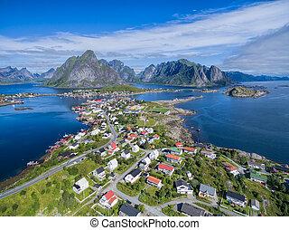 Reine - Picturesque fishing town Reine on Lofoten islands in...