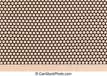 Polka dot - brown dots over dark brown Polka dot fabric...