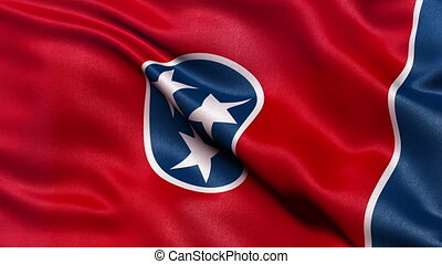 Tennessee state flag seamless loop - Realistic Tennessee...