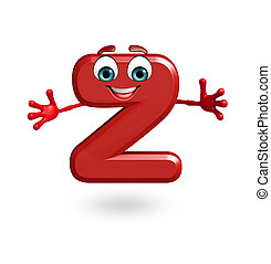 Cartoon Character of alphabet Z - 3d rendered illustration...