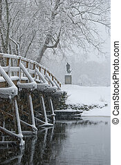 Old north bridge in winter - Old north bridge where the...
