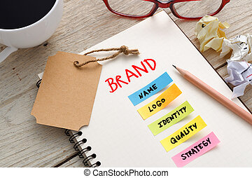 Brand marketing concept with brand tag - Brand marketing...