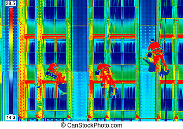 Infrared image window washers - Infrared thermovision image...