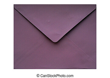 Purple envelope - Puple envelope isolated on a white...