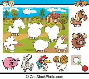 cartoon educational task for kids - Cartoon Illustration of...