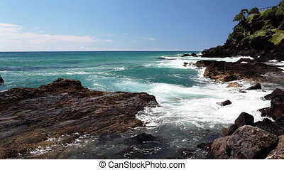 Amazing ocean at the Kingscliff beach Australia