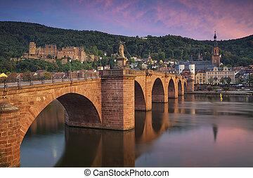 Heidelberg. - Image of german city of Heidelberg during...