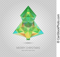 Transparent christmas tree - Vector crystal Christmas tree -...