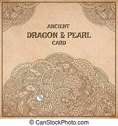 Dragon parchment card