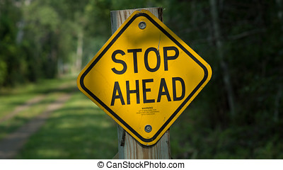Recreat Stop Ahead Sign