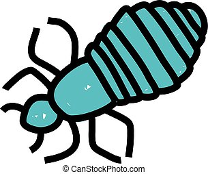 head louse - Simple stick drawing of a head louse which can...