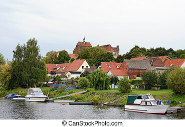 Cityscape of Havelberg Germany, Saxony-Anhalt with Havel...
